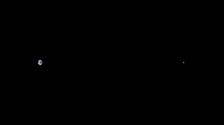 Imagen que muestra la distancia que hay entre la tierra y la luna