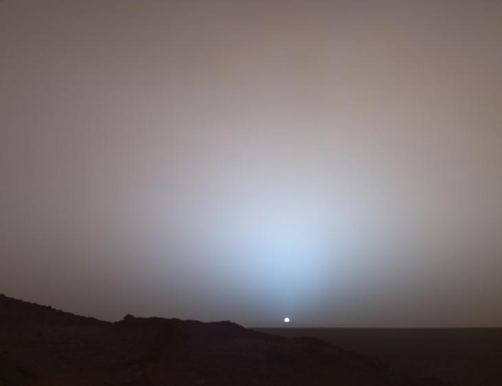 Imagen del sol visto desde marte
