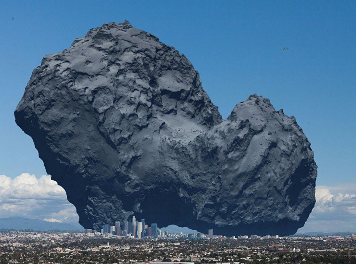 ejemplo de un meteoro sobre la ciudad de los Ángeles en Estado Unidos