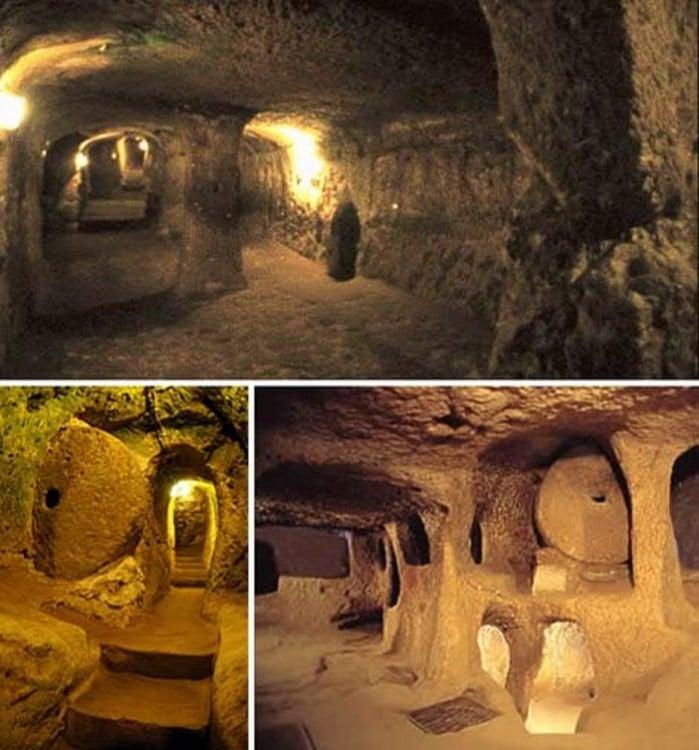 Túneles reptilianos de la edad de piedra