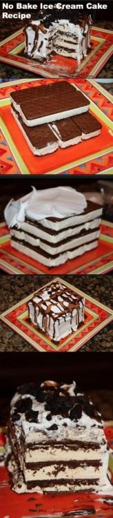 Procedimiento para lograr un pastel de helado