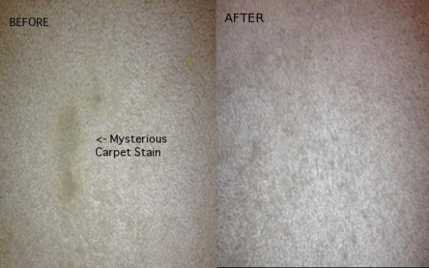 Antes y después de una alfombra sucia a limpia