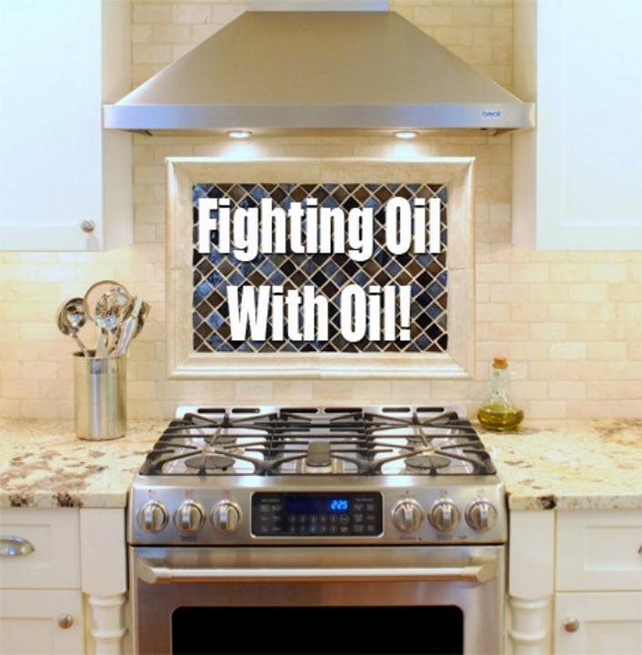 Limpia el aceite de tu estufa con aceite vegetal