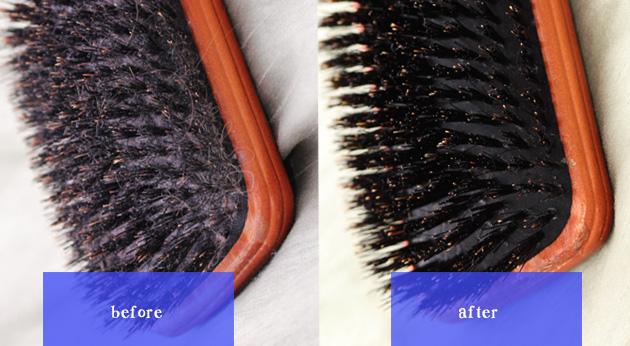 Un cepillo limpio y sucio