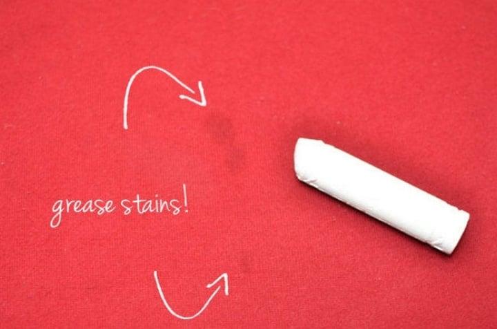 Elimina la grasa de tus paredes y ropa con ayuda de una tiza blanca