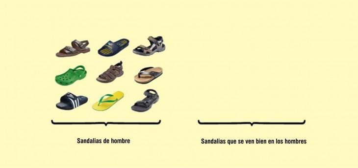 Imagen que muestra las sandalias para los hombres