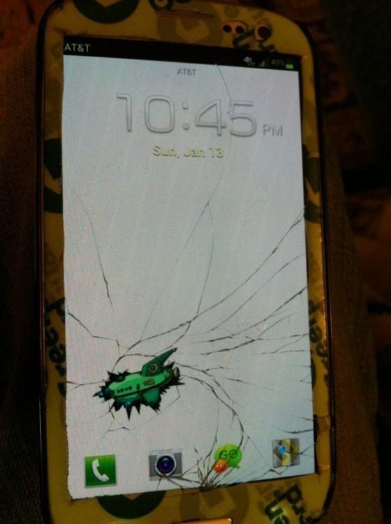 Fondo de pantalla que simula un avión estrellado en el celular
