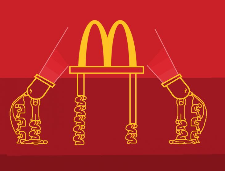 anti logos FIFA y McDonalds
