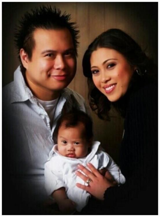 familia con un bebé
