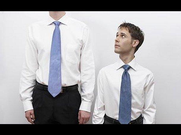 bajito en traje se compara con alto en traje