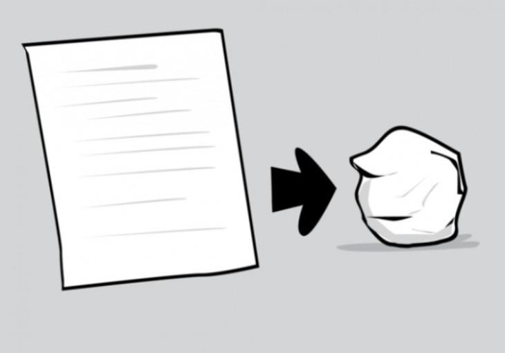 grafica de como hacer un bollo de papel