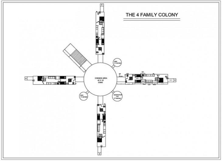 colonia subterranea para 4 familias