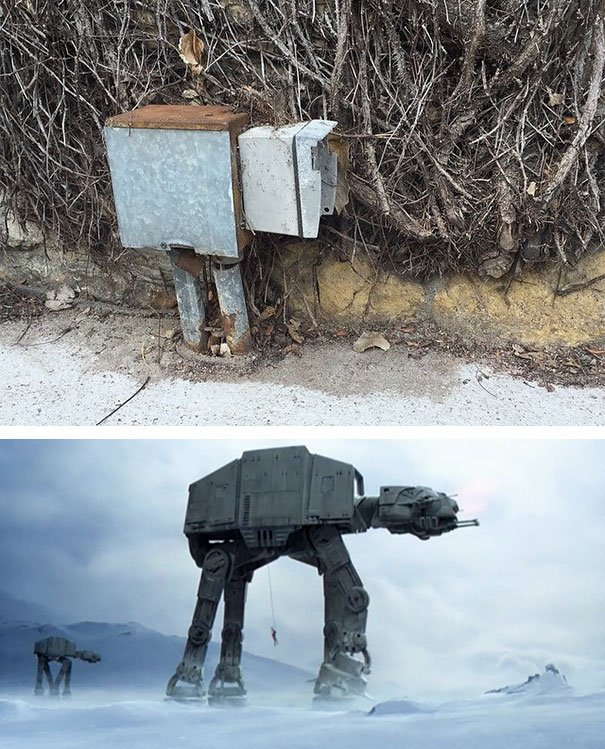 comparacion de un robot de pelicula