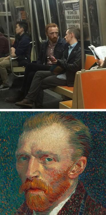 Hombre parecido a Van Gogh