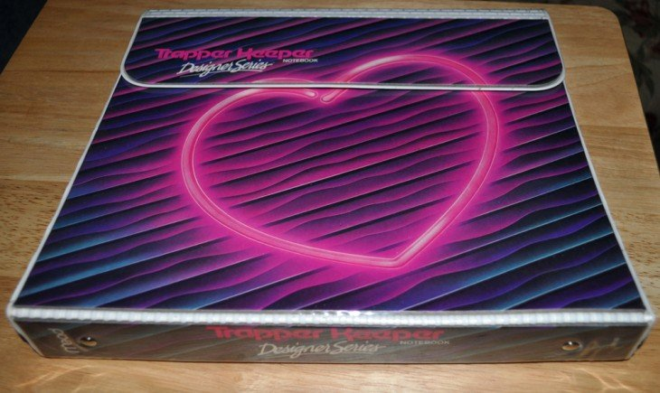trapper keeper de corazon boga de los 80