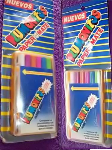 plumonitos de paper mate muy populares en los 80