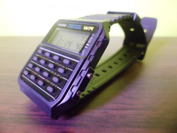 relo calculadora marca casio morado
