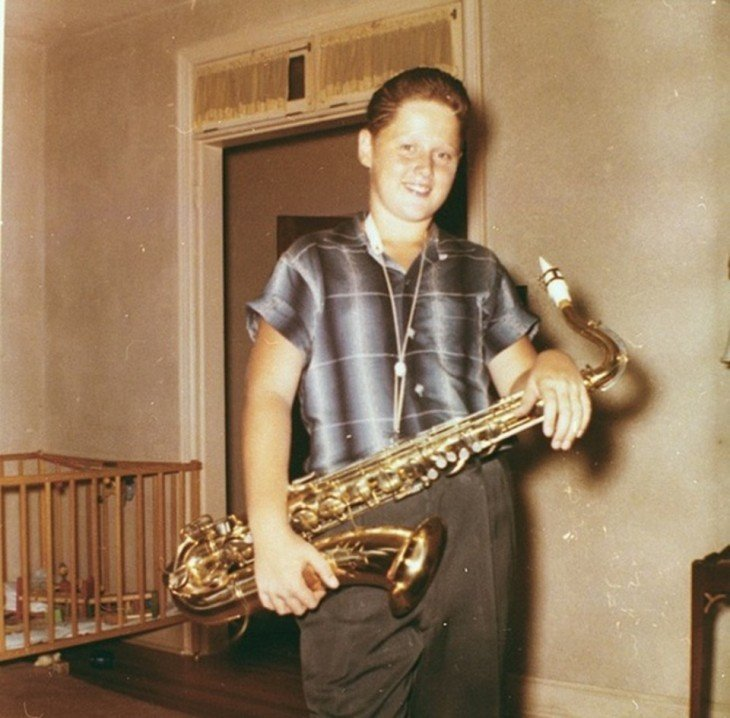 BIll Clinton 1960 saxofon