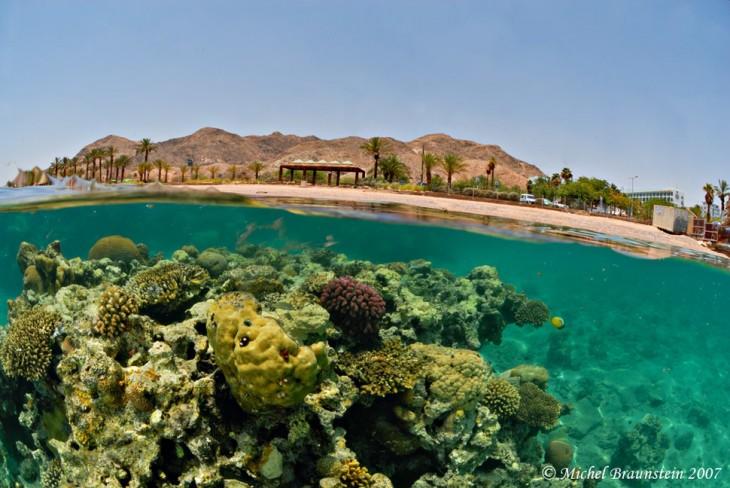 playa con arrecifes