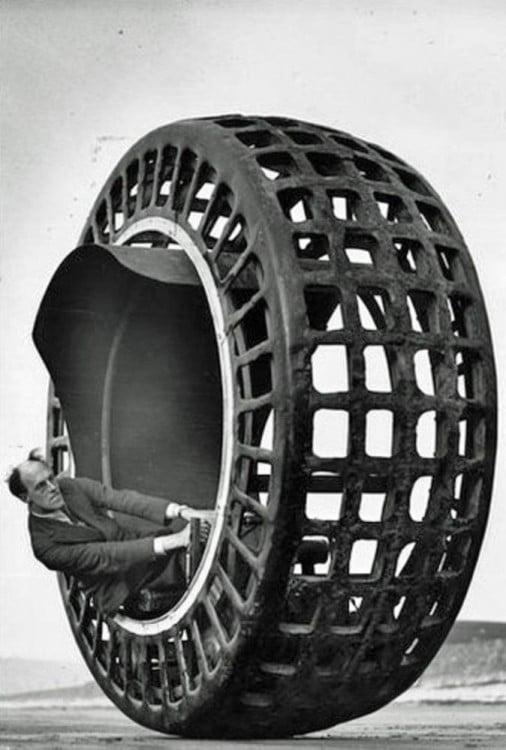El dinosfero, era una rueda construida en 1932