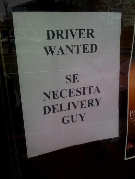 cartel que ofrece trabajo