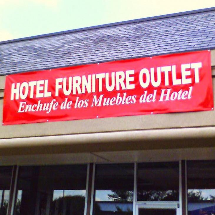 las peores ttraducciones de carteles del mundo cartel de un hotel