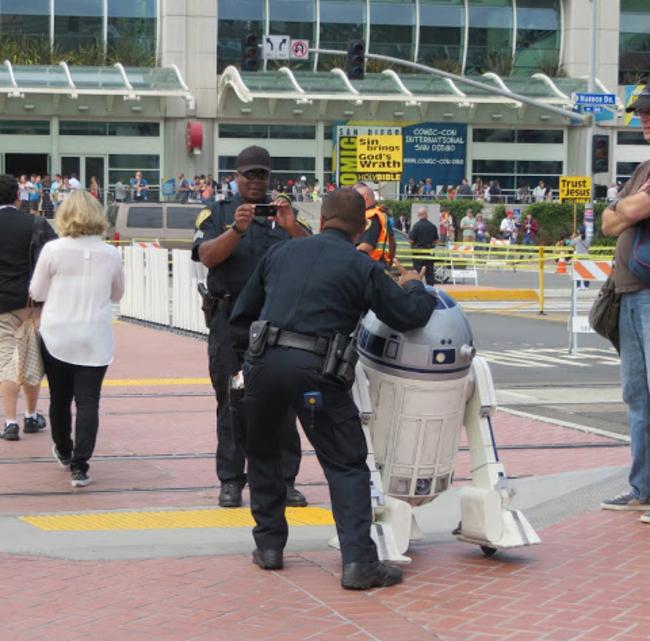 policía con star wars