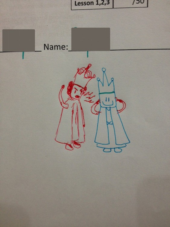 dibujo de reyes peleando