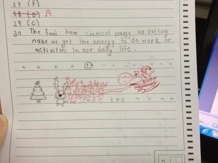 dibujo de un error en un examen
