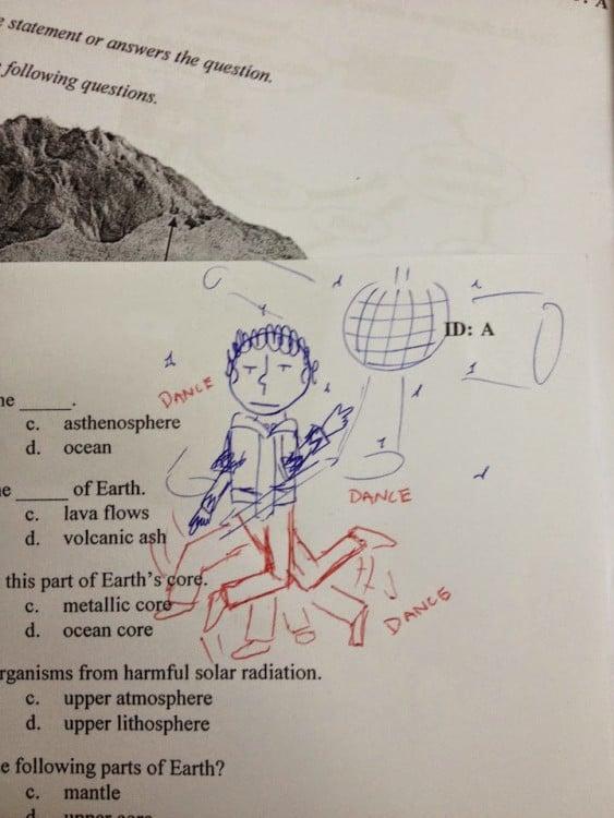 dibujo de un hombre bailando