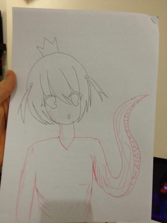 dibujo de hombre con tentaculos