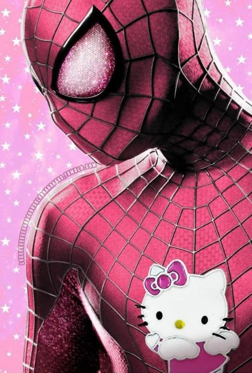 spiderman hello kitty