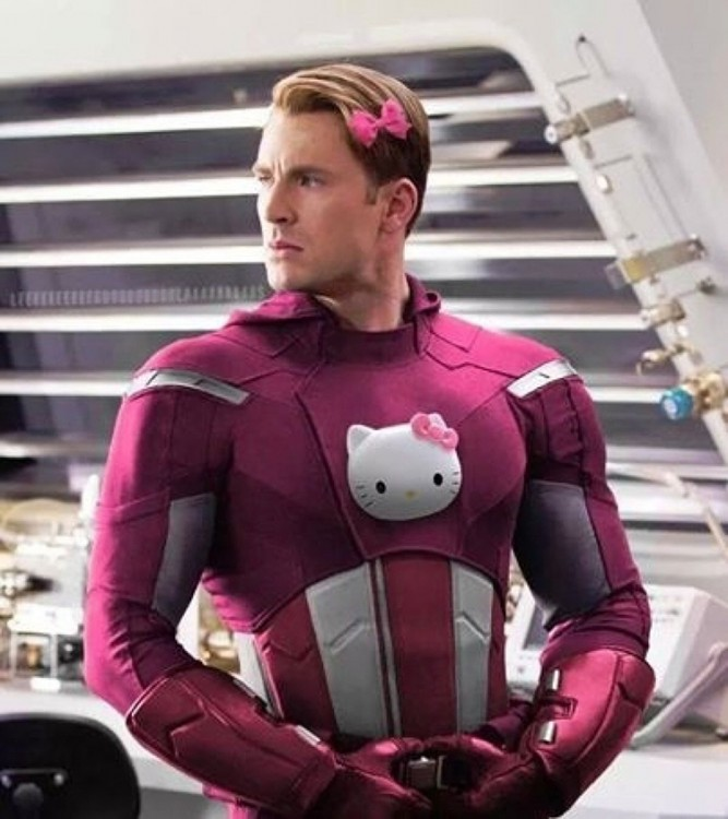 capitan america hello kitty