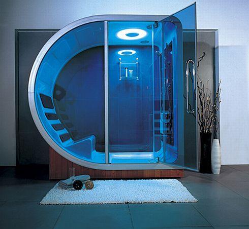 ducha con luces led