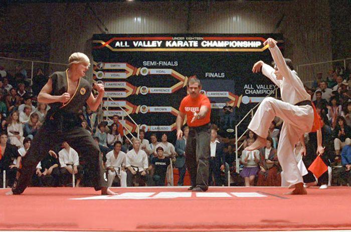 escena de karate kid daniel san