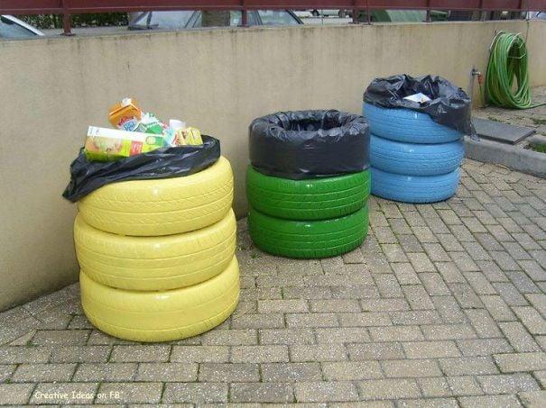 llantas basureros