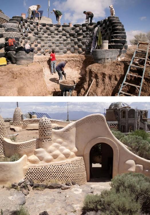 construccion de una casa a base de llantas usadas