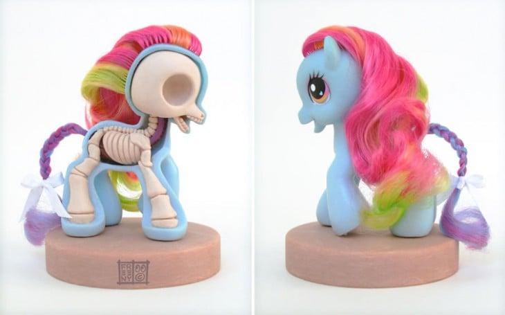 my little pony rainbow esqueleton