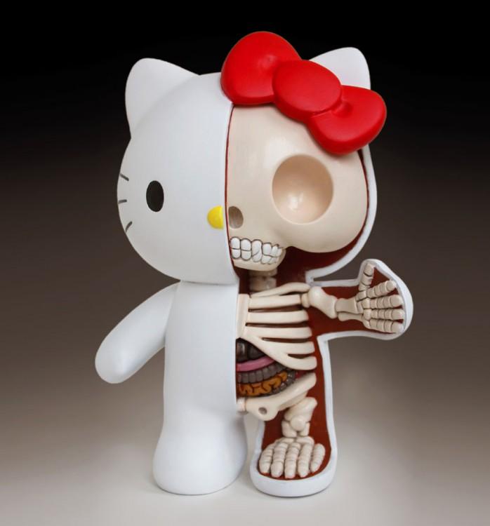Hello kitty esqueleto