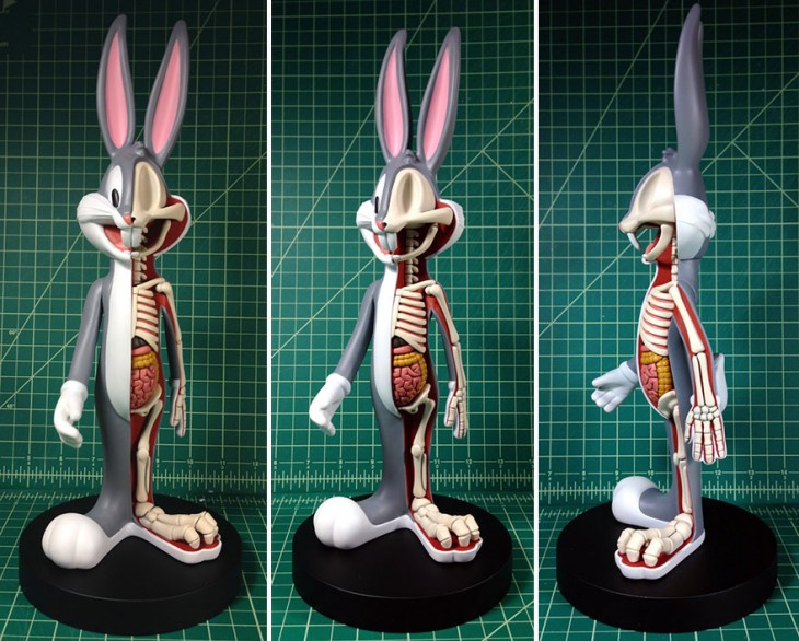 Bugs bunny en esqueleto