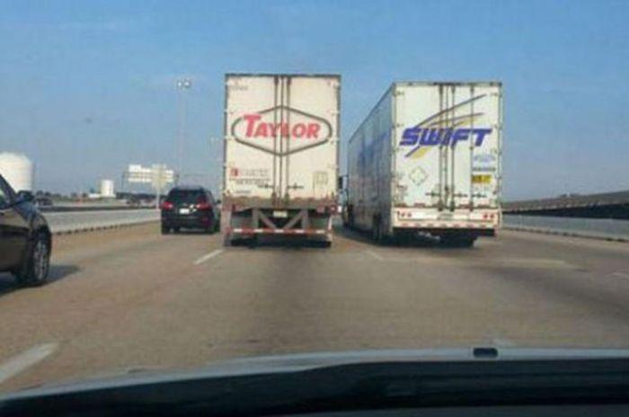 camiones que forman el nombre de taylor swft