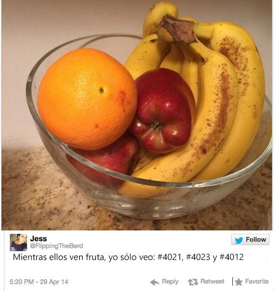 plato con platano manzana y naranja