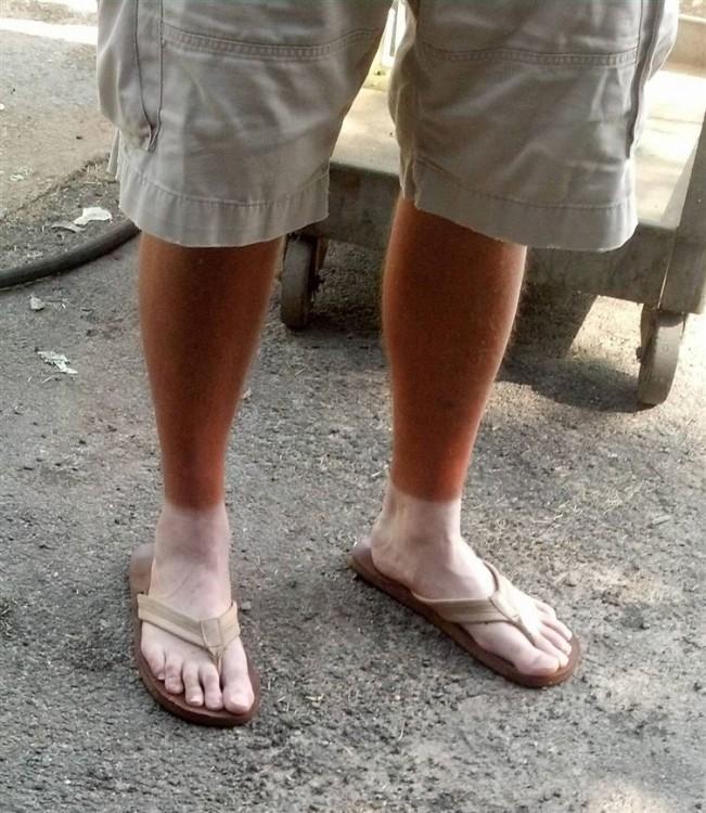 se le marcan los calcetines después de pasar varias horas en el sol