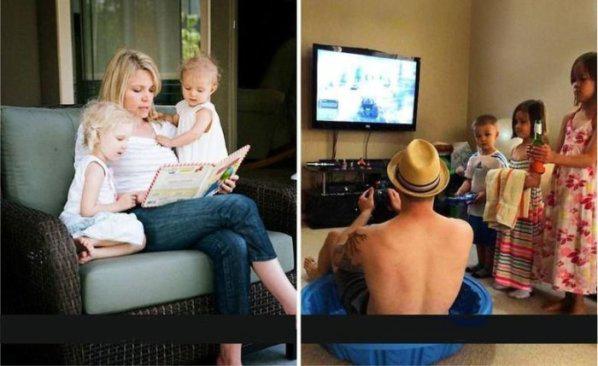los momentos recreativos madres vs padres