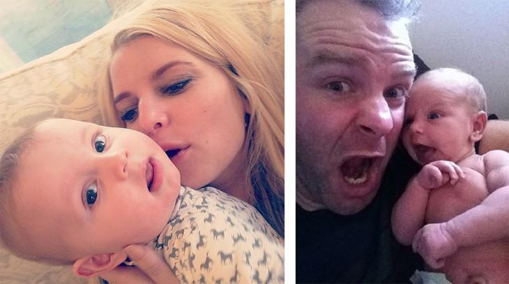 selfie vs mama y papa