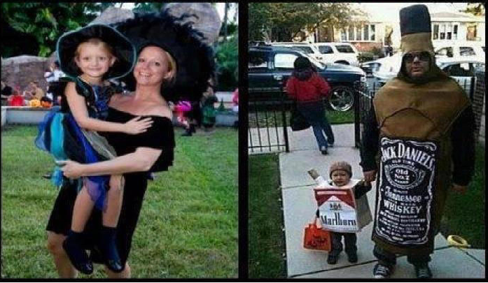 haloween mom vs dad