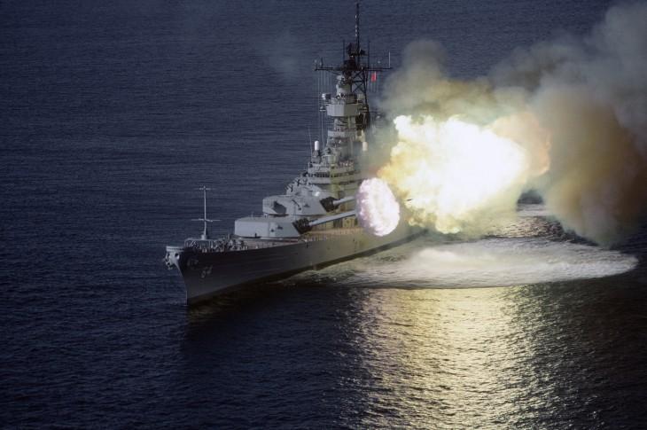 barco en ataque