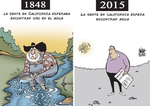 ilustración que muestra la sequía de los lagos