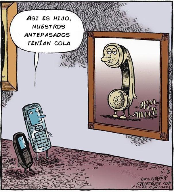evolución del teléfono a los celulares