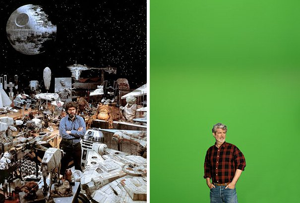 Diferencias entre la filmación de la película Stars Wars hace años a la actualidad